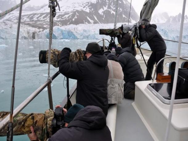Fotografen Spitzbergen