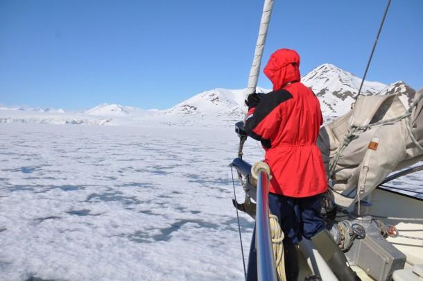 ship in ice Svalbard