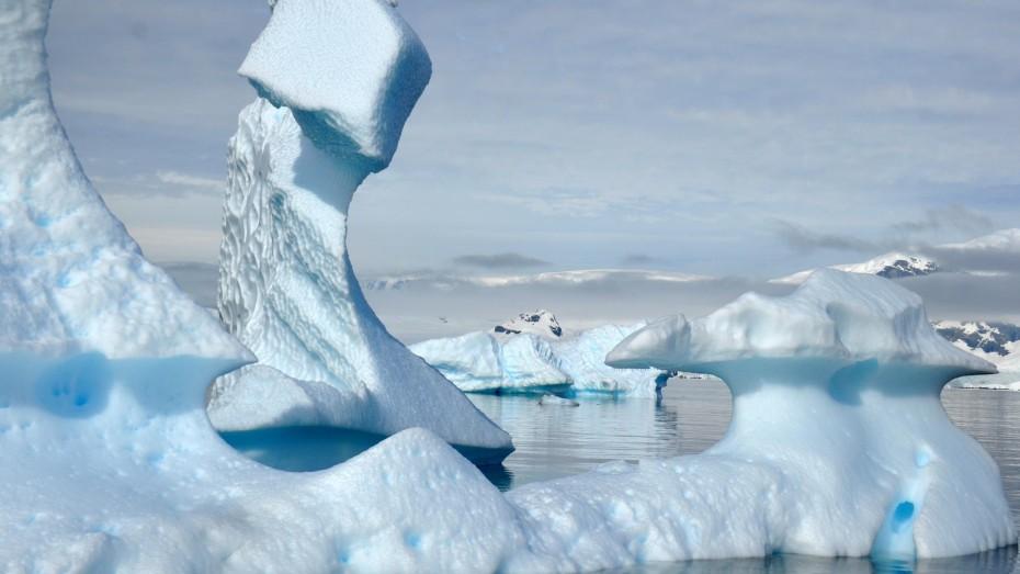mooie ijsformatie antarctica